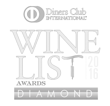 Diners club Diamond Winelist Award Award